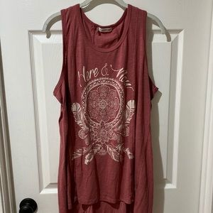 Plus size maurices boho tank top